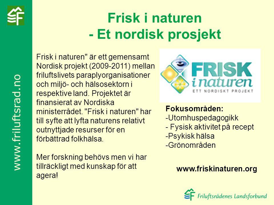 Frisk i naturen - Et nordisk prosjekt