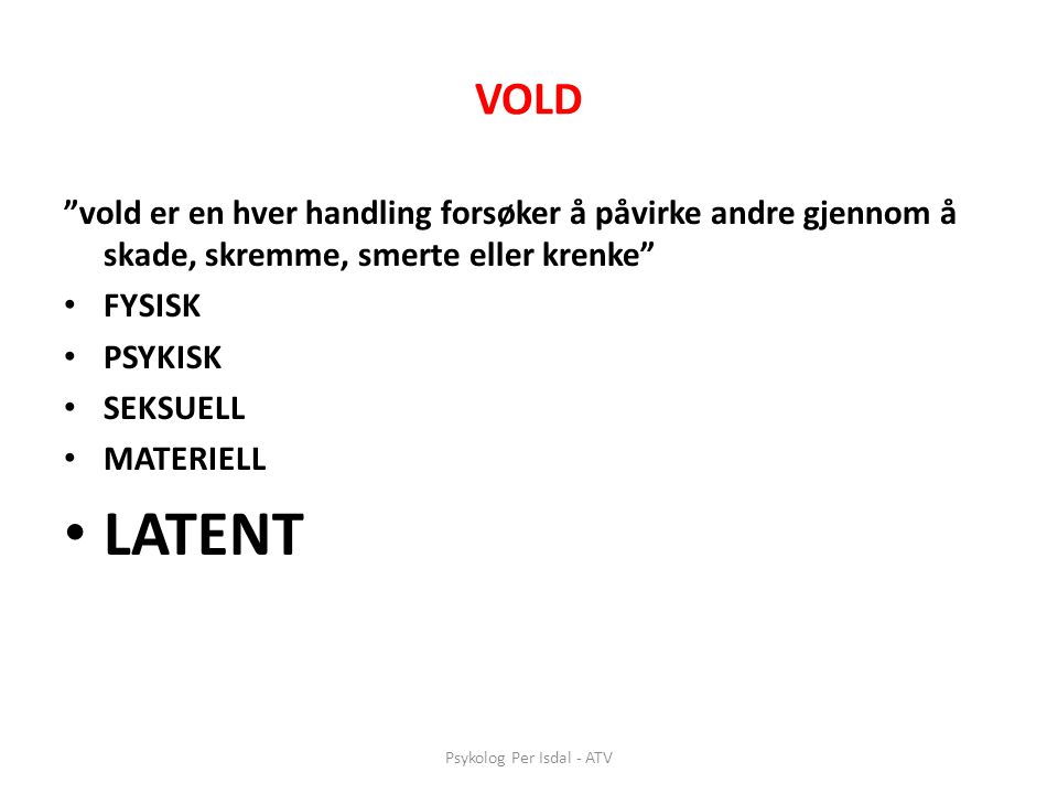Psykolog Per Isdal - ATV