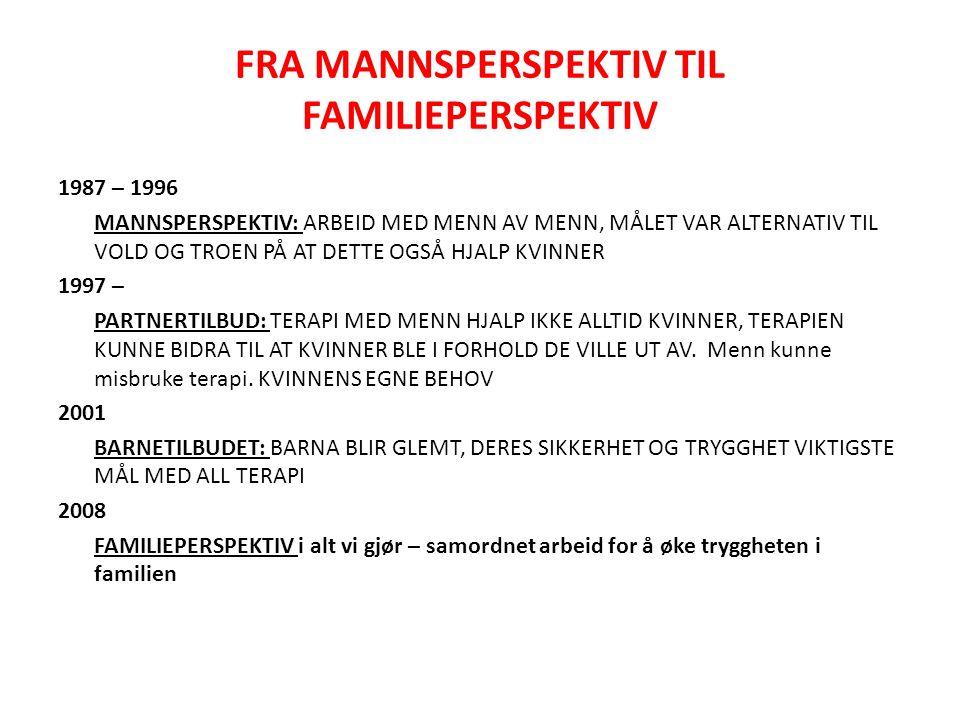 FRA MANNSPERSPEKTIV TIL FAMILIEPERSPEKTIV