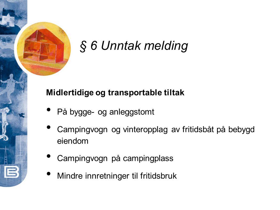 Midlertidige og transportable tiltak