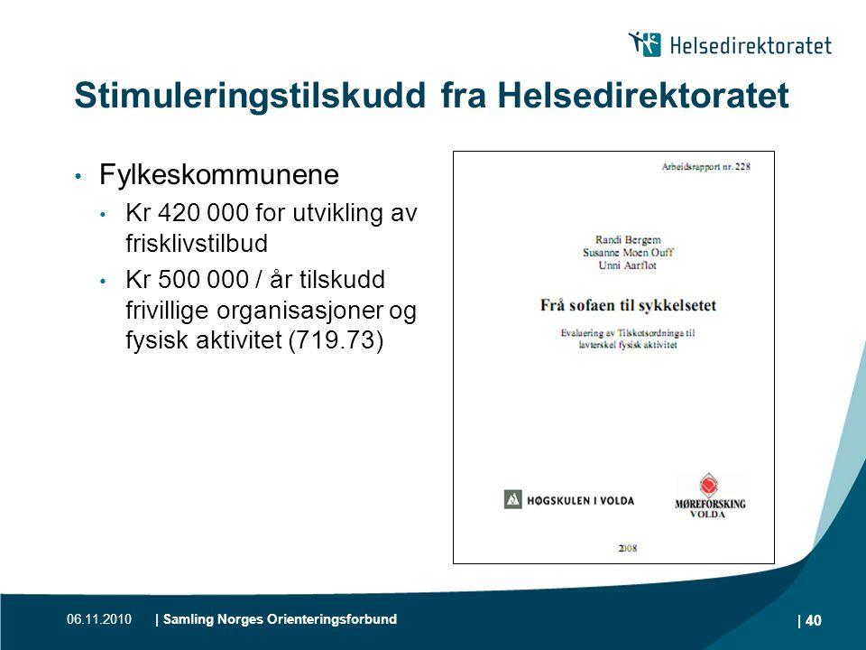 Stimuleringstilskudd fra Helsedirektoratet