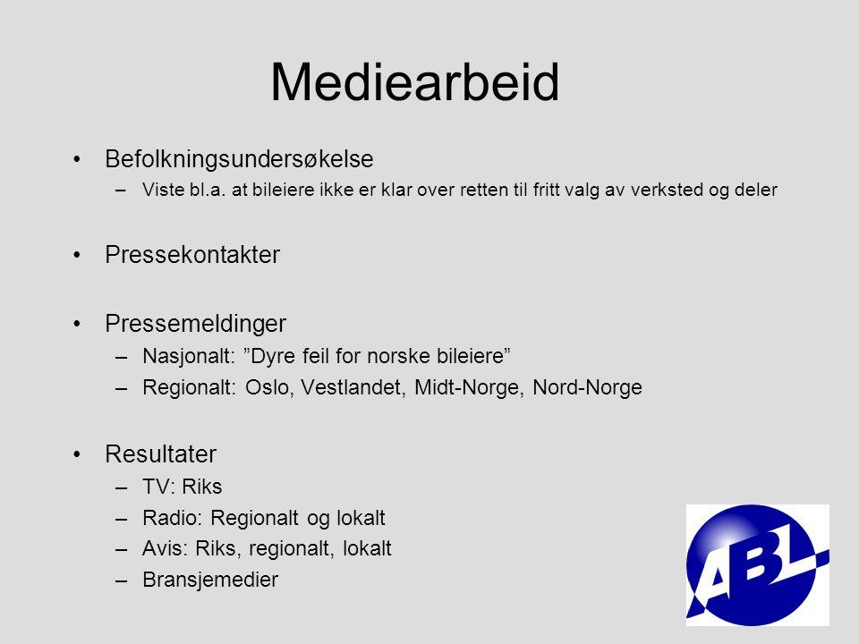 Mediearbeid Befolkningsundersøkelse Pressekontakter Pressemeldinger