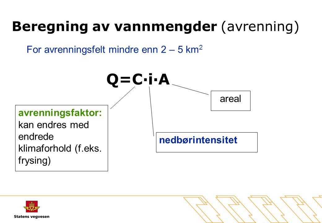Beregning av vannmengder (avrenning)