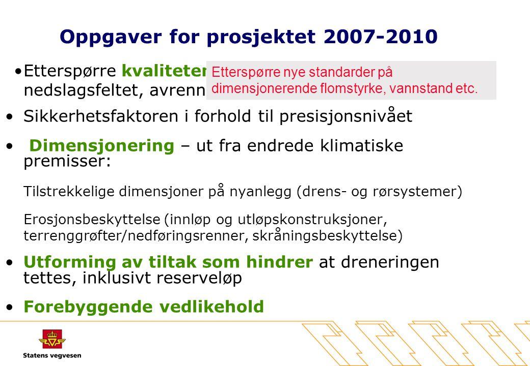 Oppgaver for prosjektet 2007-2010