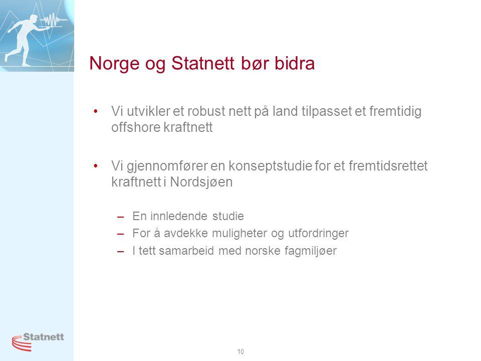 Norge og Statnett bør bidra