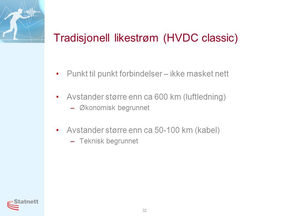 Tradisjonell likestrøm (HVDC classic)