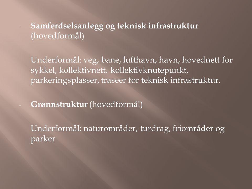 Samferdselsanlegg og teknisk infrastruktur (hovedformål)