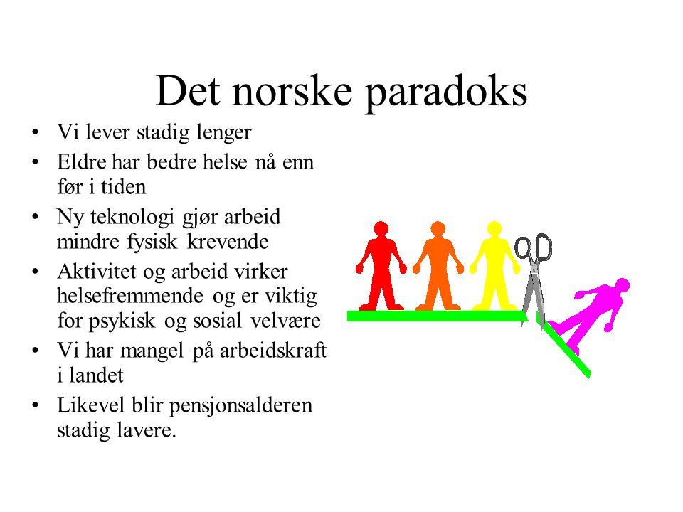 Det norske paradoks Vi lever stadig lenger