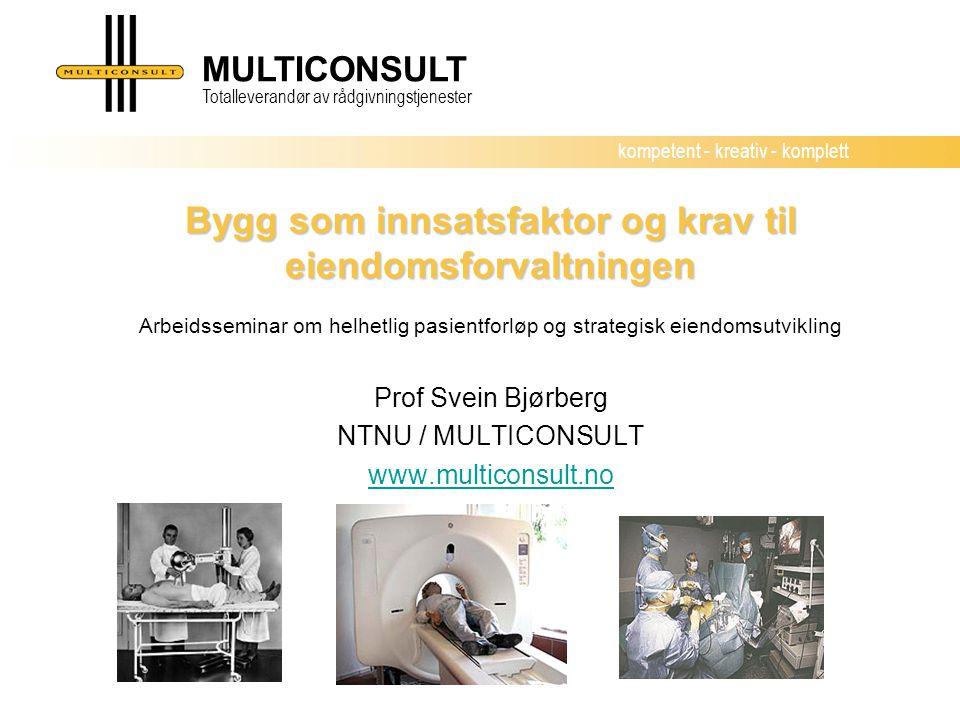 Prof Svein Bjørberg NTNU / MULTICONSULT www.multiconsult.no