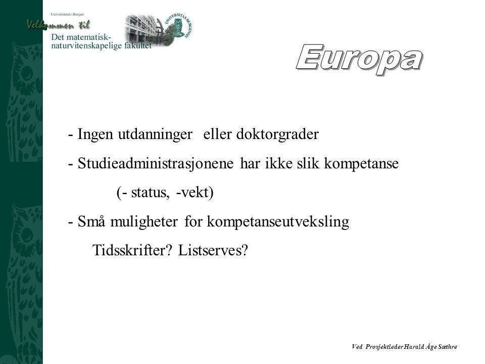 Europa - Ingen utdanninger eller doktorgrader
