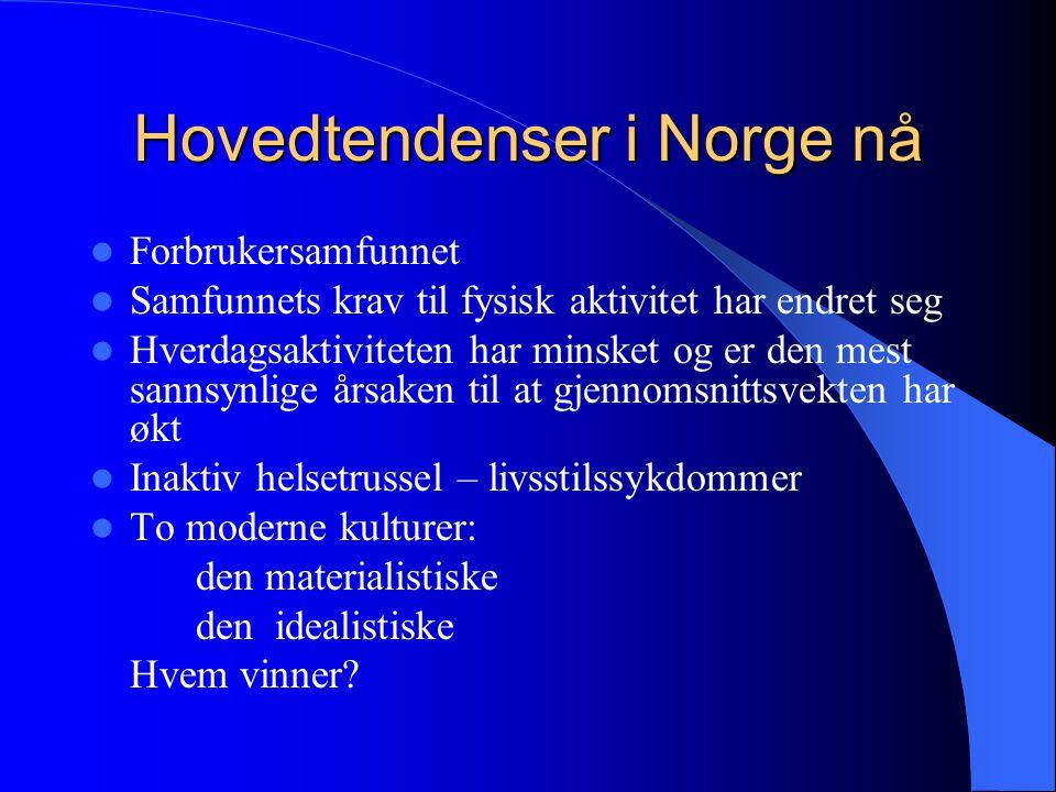 Hovedtendenser i Norge nå
