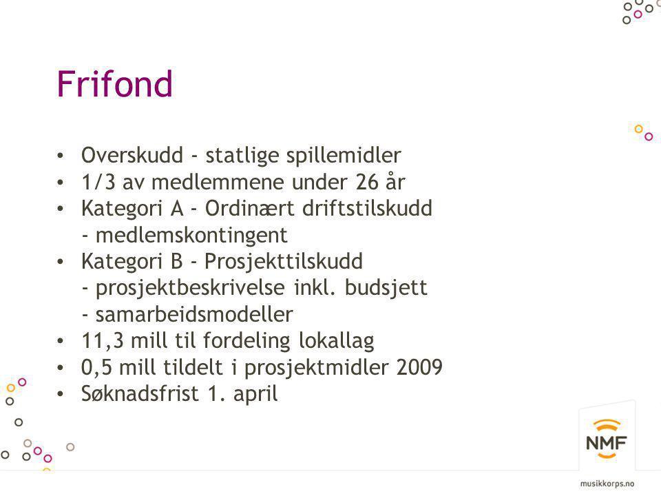 Frifond Overskudd - statlige spillemidler