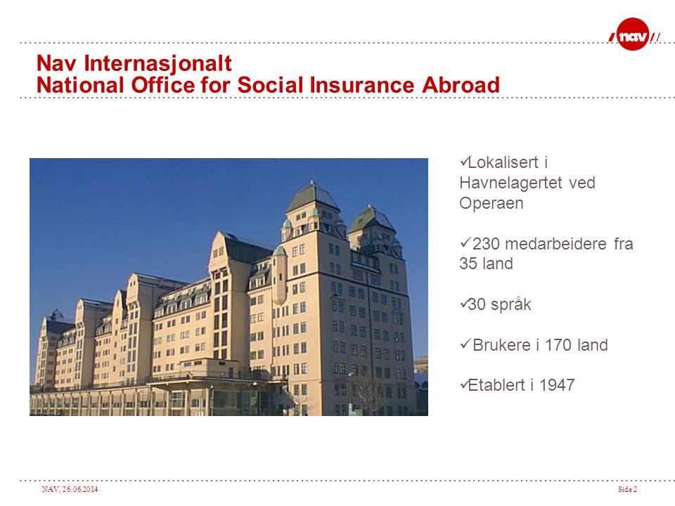 Nav Internasjonalt National Office for Social Insurance Abroad