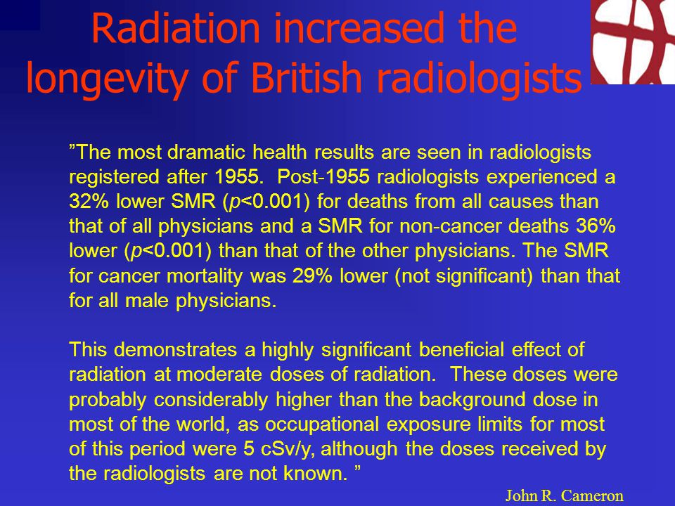 Radiation increased the longevity of British radiologists