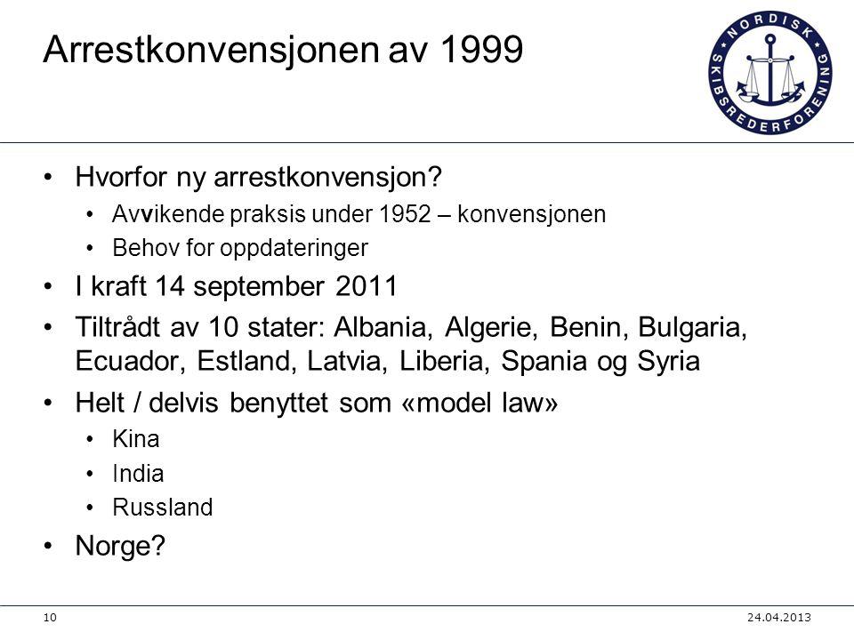 Arrestkonvensjonen av 1999