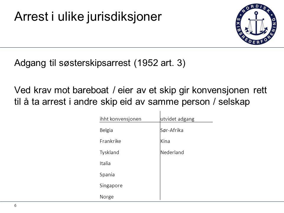 Arrest i ulike jurisdiksjoner