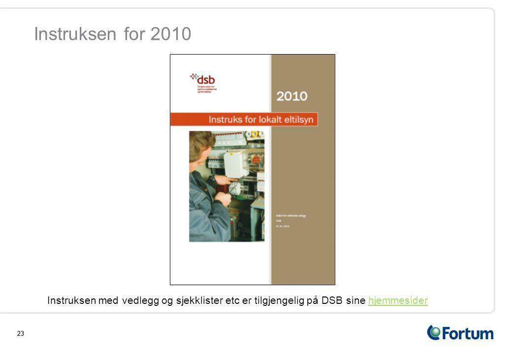 Instruksen for 2010 Instruksen med vedlegg og sjekklister etc er tilgjengelig på DSB sine hjemmesider.