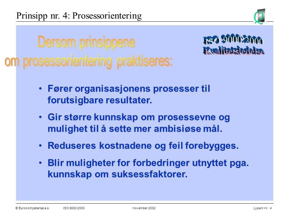 om prosessorientering praktiseres: