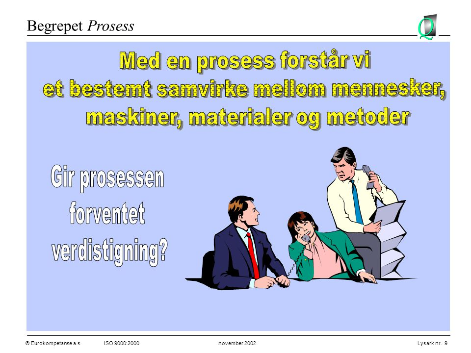 Begrepet Prosess Med en prosess forstår vi