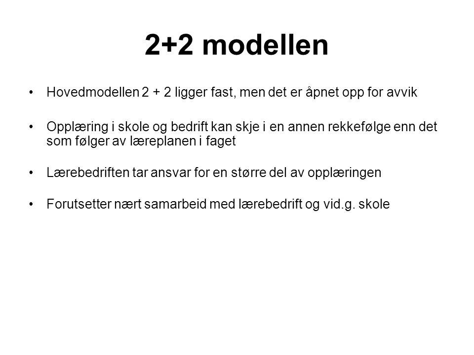 2+2 modellen Hovedmodellen 2 + 2 ligger fast, men det er åpnet opp for avvik.