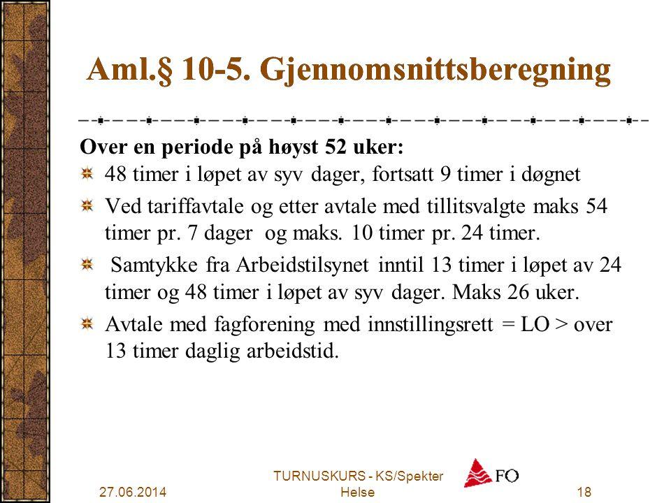 Aml.§ 10-5. Gjennomsnittsberegning