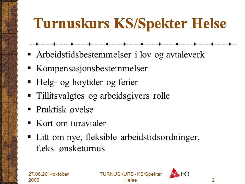 Turnuskurs KS/Spekter Helse