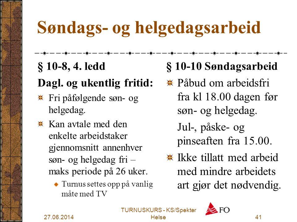 Søndags- og helgedagsarbeid
