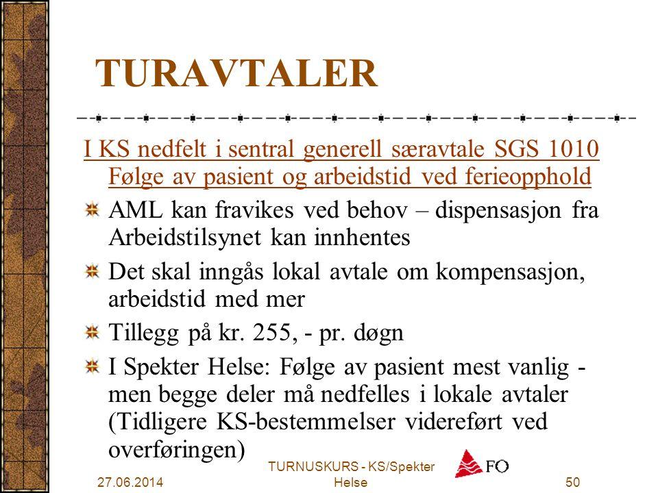 TURNUSKURS - KS/Spekter Helse