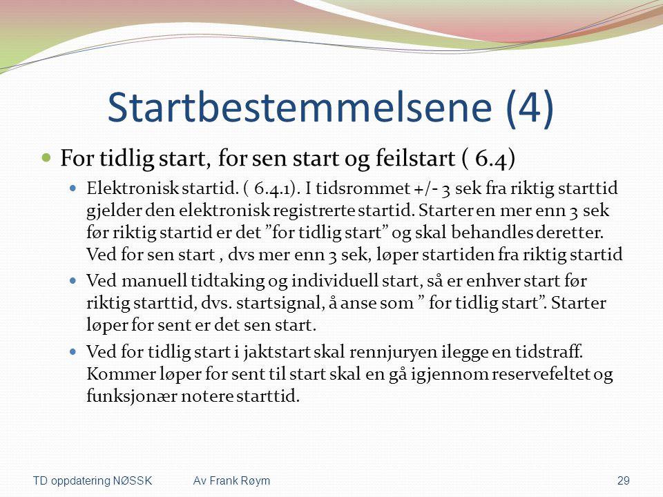 Startbestemmelsene (4)