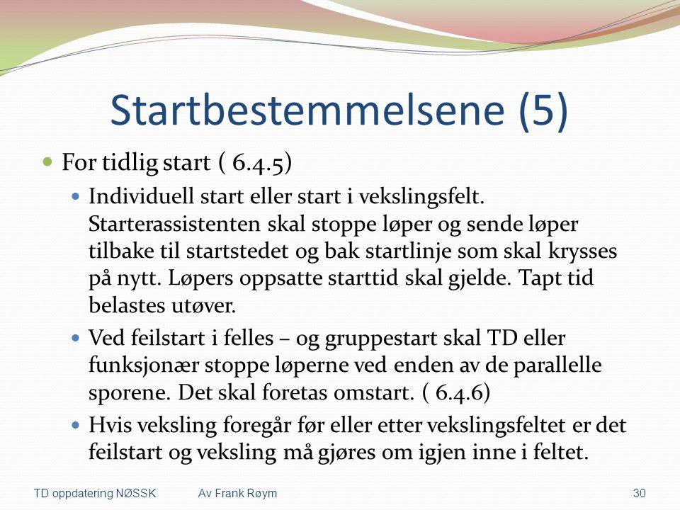 Startbestemmelsene (5)