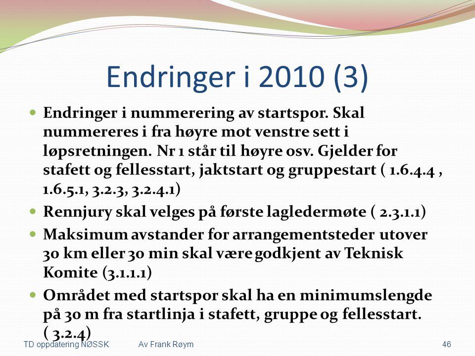 Endringer i 2010 (3)