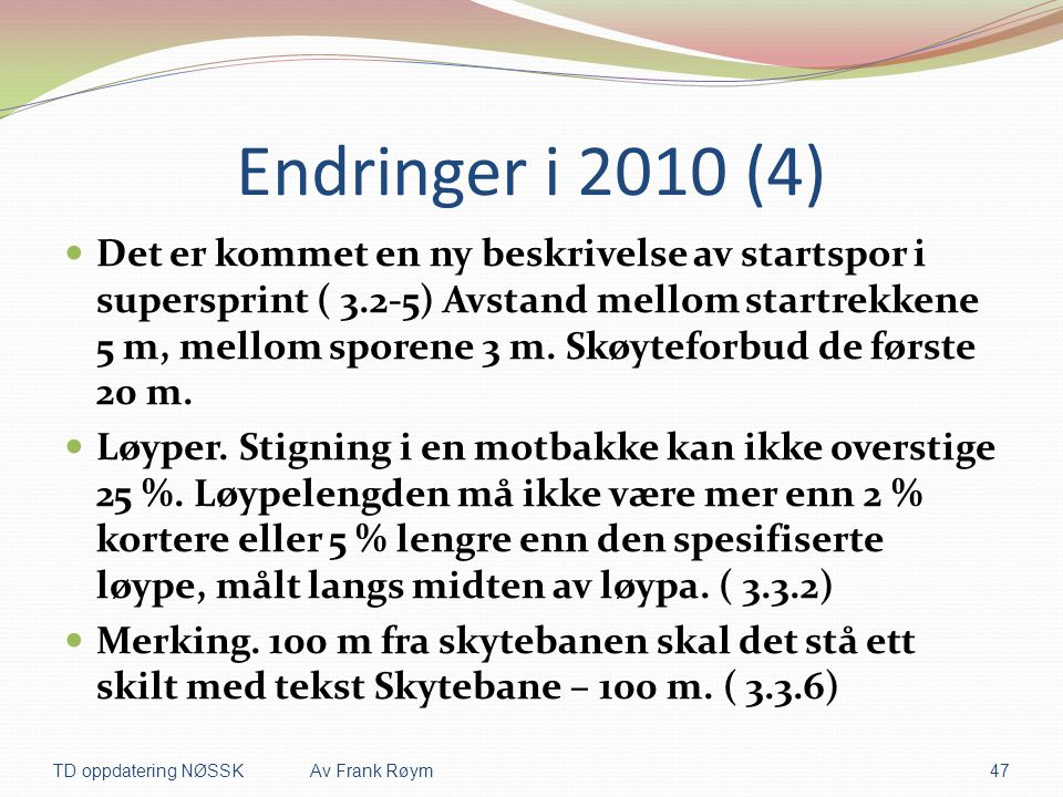 Endringer i 2010 (4)