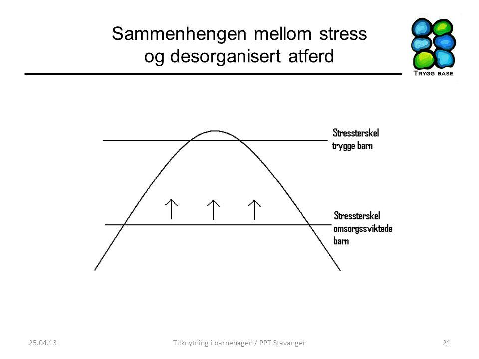 Sammenhengen mellom stress og desorganisert atferd