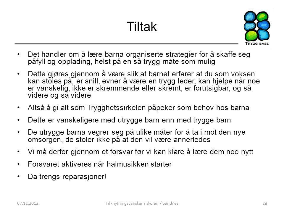 Tilknytningsvansker i skolen / Sandnes