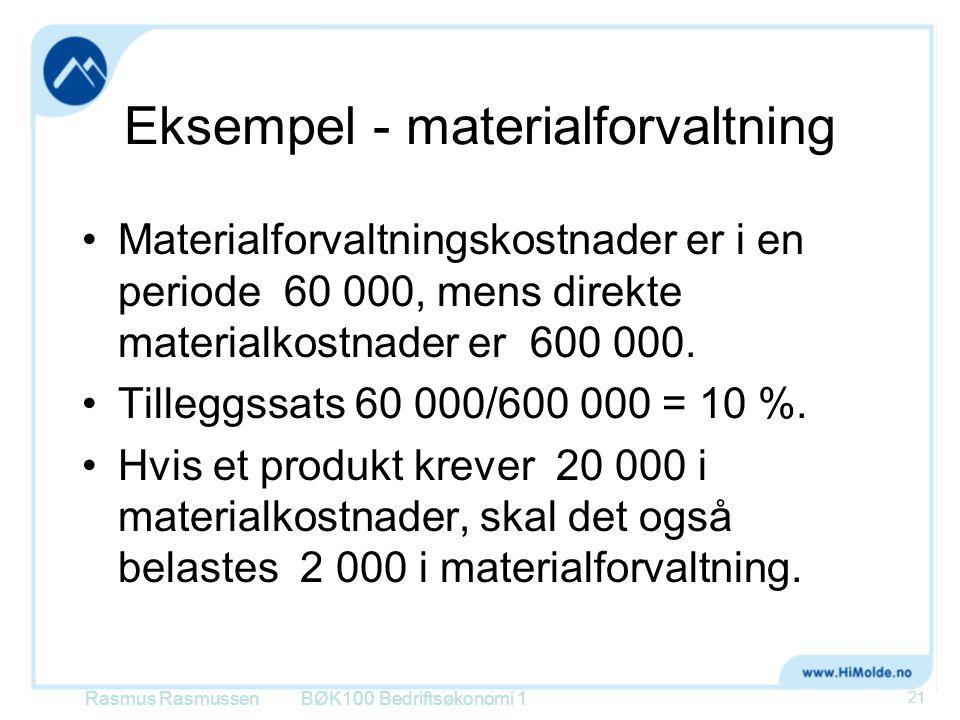 Eksempel - materialforvaltning