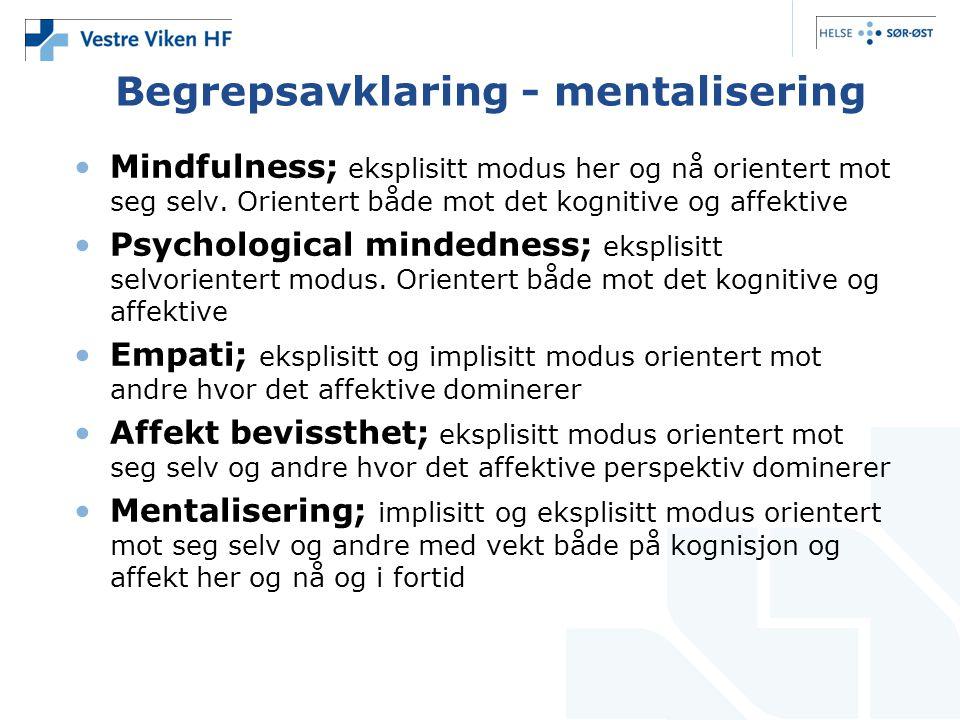 Begrepsavklaring - mentalisering