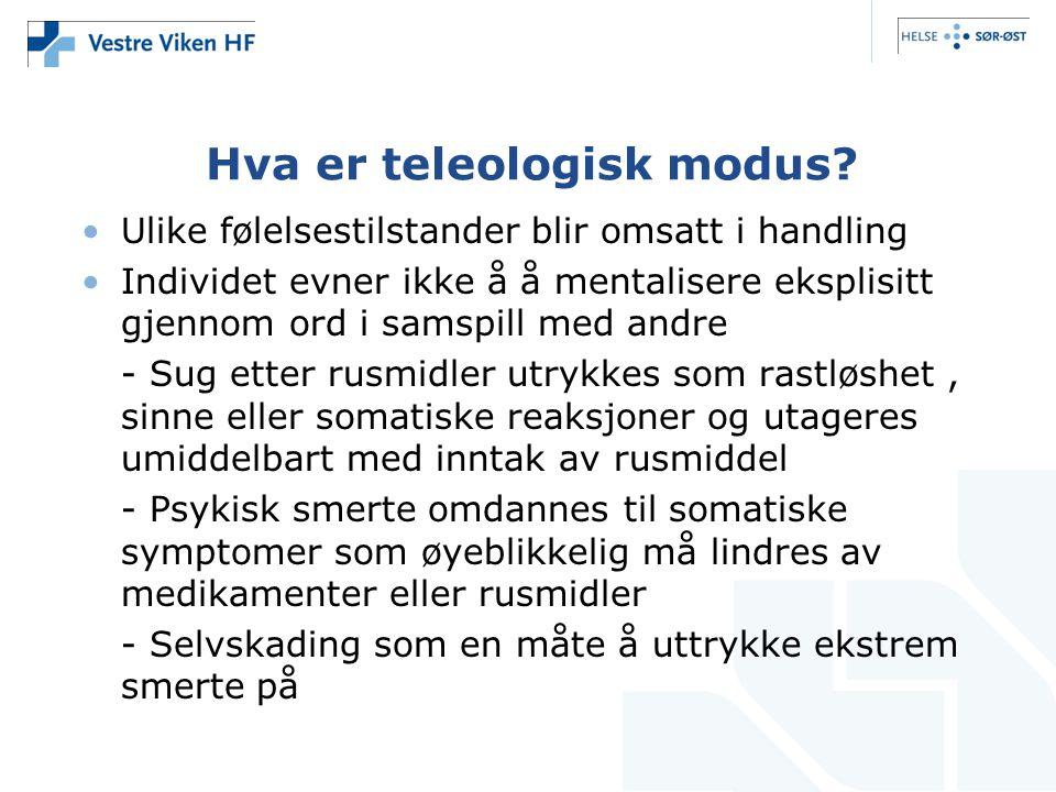 Hva er teleologisk modus