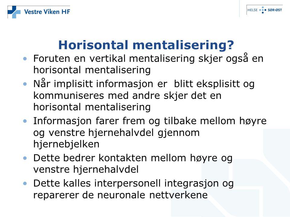 Horisontal mentalisering