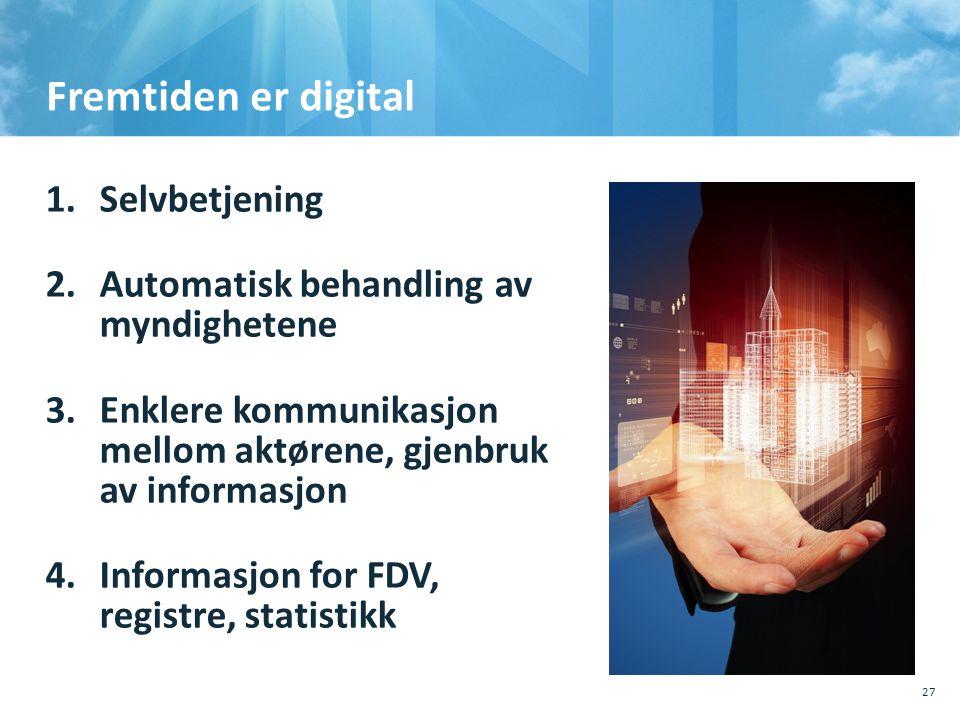 Fremtiden er digital Selvbetjening