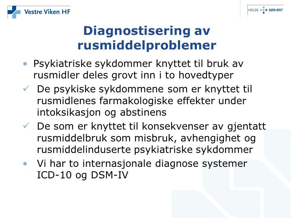 Diagnostisering av rusmiddelproblemer
