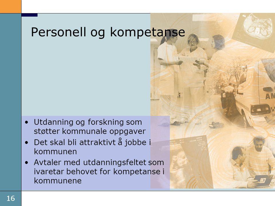 Personell og kompetanse