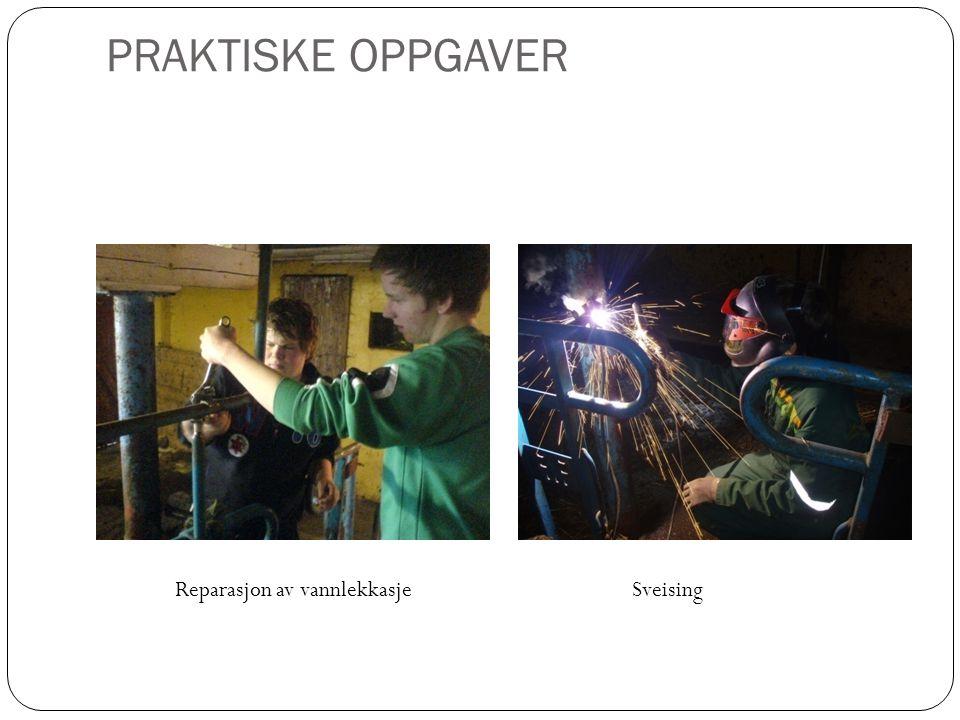 PRAKTISKE OPPGAVER Reparasjon av vannlekkasje Sveising