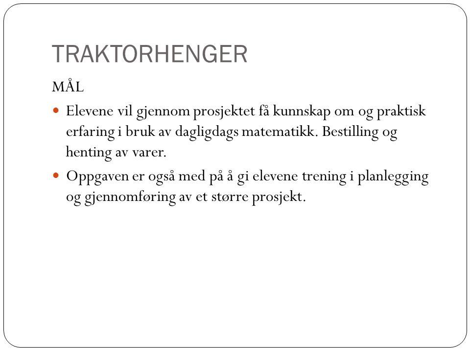 TRAKTORHENGER MÅL.