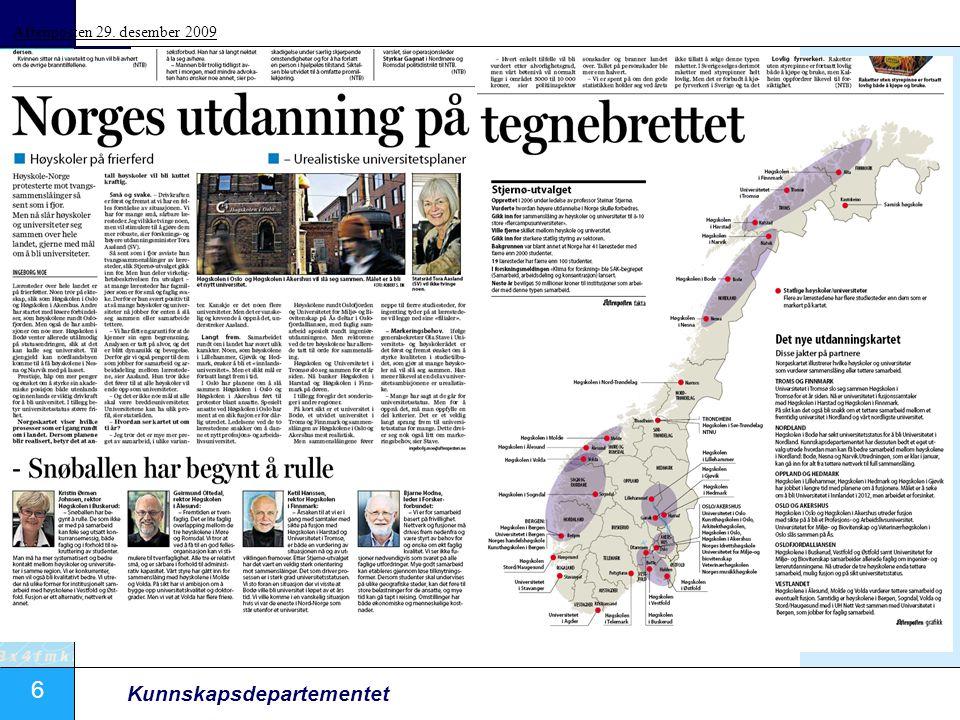 Aftenposten 29. desember 2009