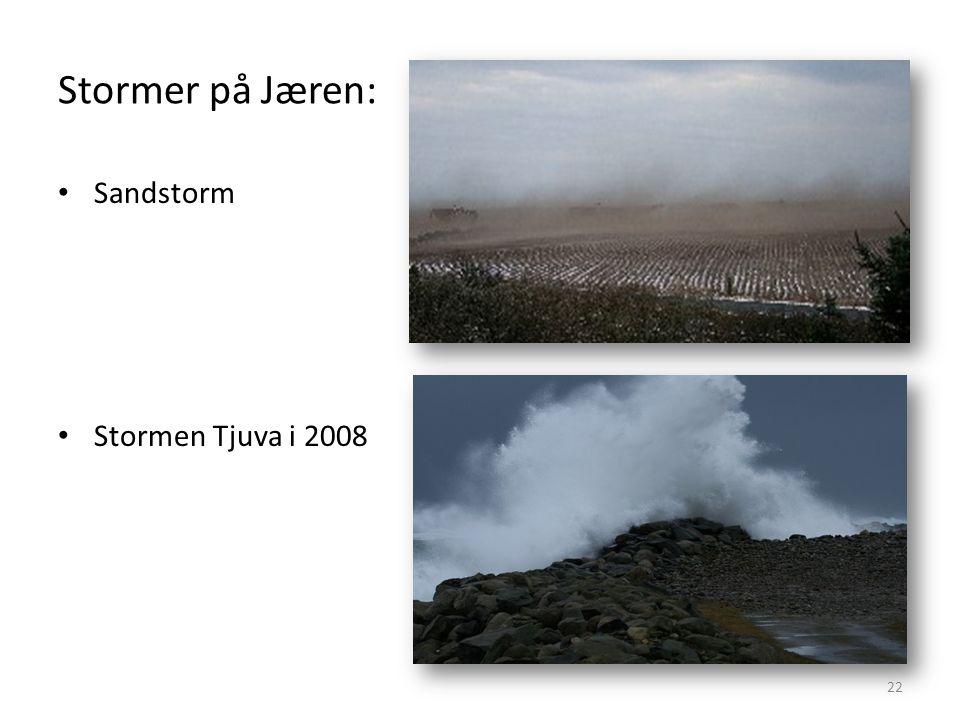 Stormer på Jæren: Sandstorm Stormen Tjuva i 2008