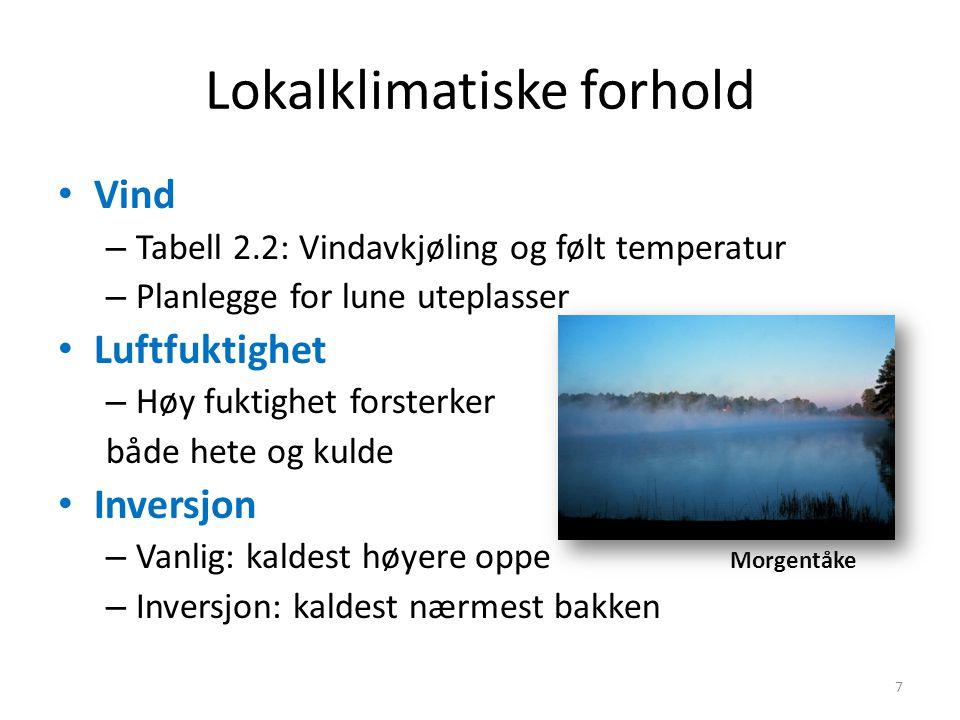 Lokalklimatiske forhold