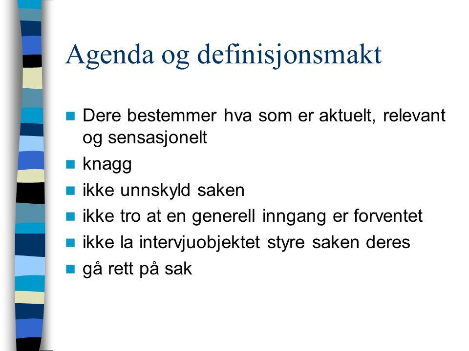 Agenda og definisjonsmakt
