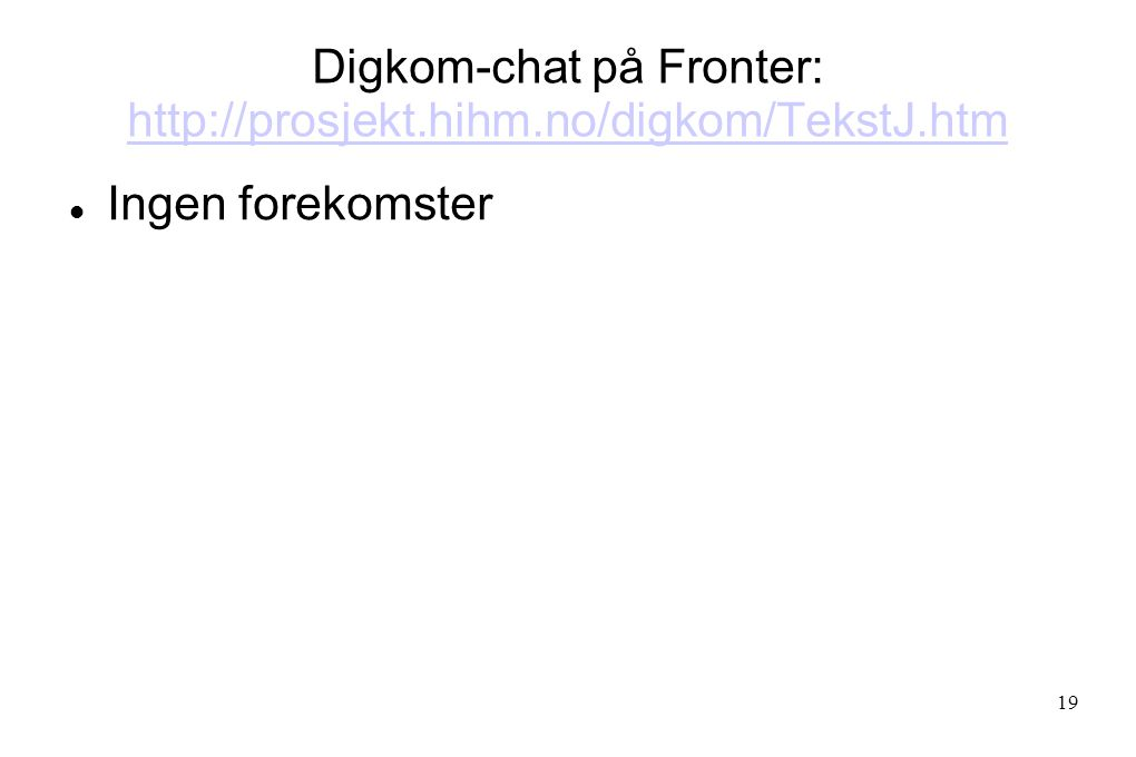 Digkom-chat på Fronter: