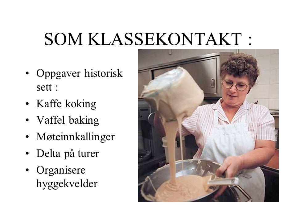 SOM KLASSEKONTAKT : Oppgaver historisk sett : Kaffe koking
