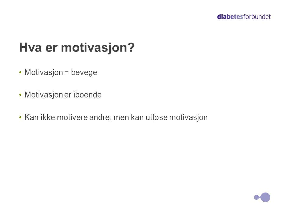 Hva er motivasjon Motivasjon = bevege Motivasjon er iboende